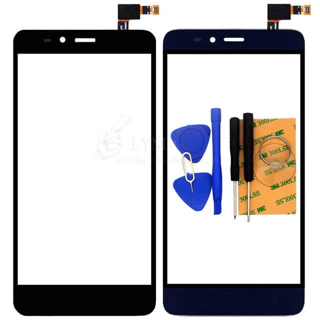"""Black Blue TP for ZTE Grand X Max 2 Z988 LTE 6.0"""" Touch Screen Digitizer Glass Panel No LCD Replace Part Free Shipping+Tools"""