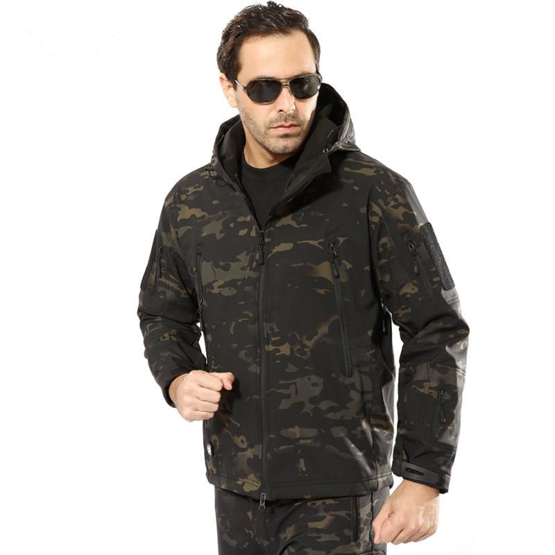 Image 4 - Military Jacket Men Winter Camouflage Tactical Waterproof  Windbreaker Hooded Male Camo Coat Plus Size 5XL Bomber Army Jacket  MenJackets