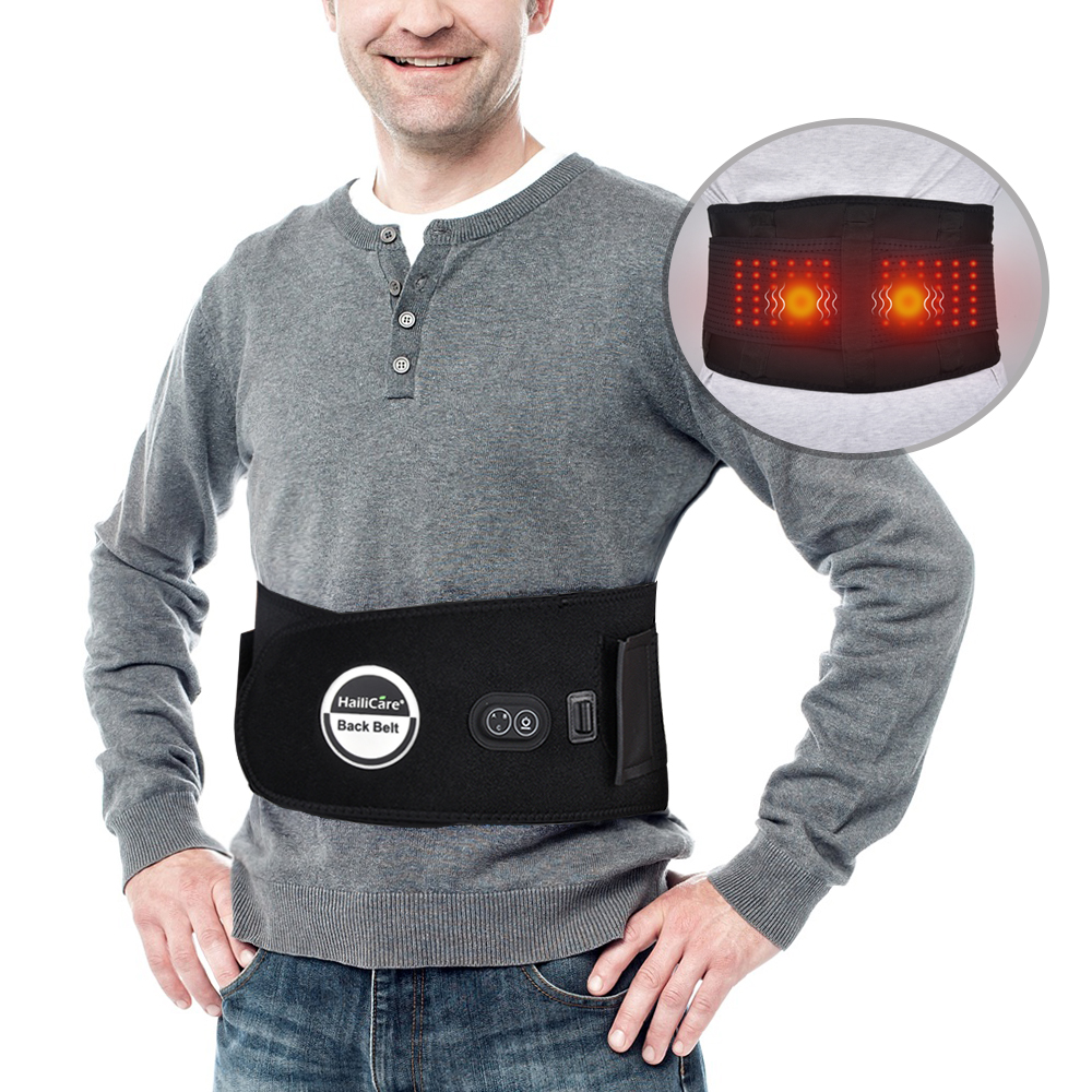Far Infrared Waist Massage Belt Heating Therapy Back Support Brace Lumbar Spine Correction Belt Stretch Back Pain Relief Massage цена
