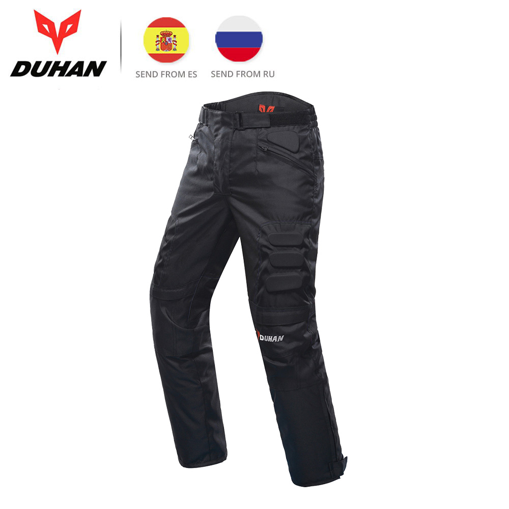DUHAN Motorcycle Pants MotocrossTrousers Windproof Riding Pants Motorbike Pantalon Moto Pants Protective Gear for Men