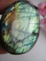 Natural Blue Labradorite Crystal Rough Polished Beautiful Labrador HEALING Decoration Resistant Healing Stone Feng Shui 115g