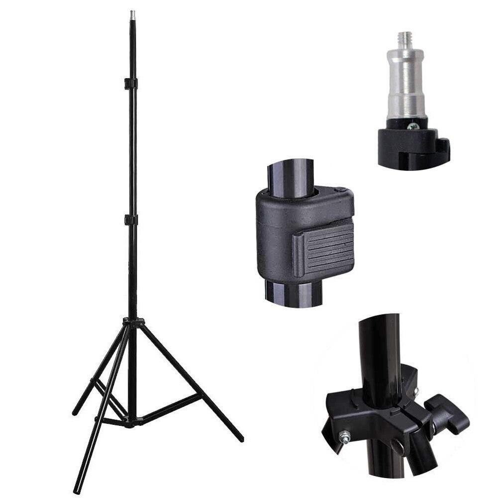 Universal Adjustable 1 4 Head Studio Light Flash Speedlight Umbrella Stand Holder Bracket Tripod 81cm 200cm