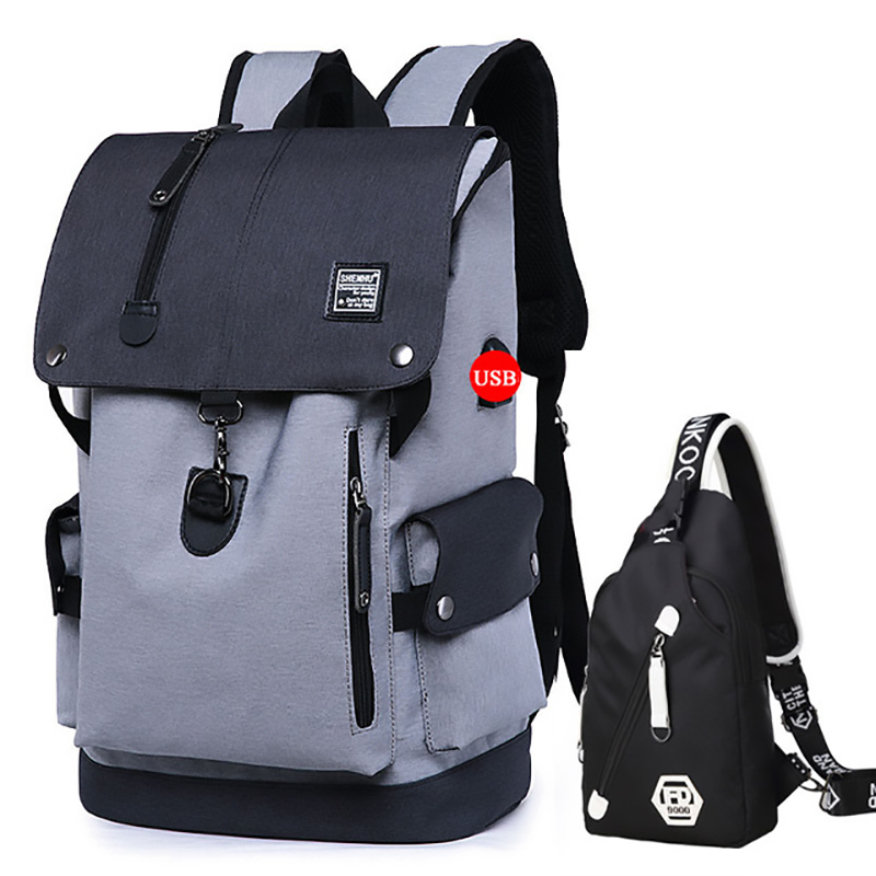 Image 3 - Fashion Men Backpack Shoulder Bag Male Fashion Best Travel Backpacks Everyday Bagpack Laptop Bags For Teenager Boy Mochila 2019-in Backpacks from Luggage & Bags