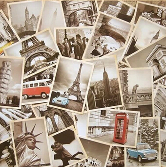 32pcs/lot Classical Famous Europe Building Vintage style memory postcard set /Greeting Cards/gift cards/Christmas postcards postcard christmas gift post card postcards chinese famous cities beautiful landscape greeting cards ansichtkaarten xiamen