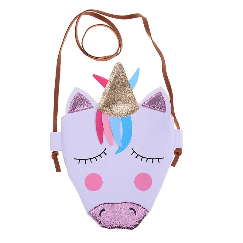 1PCS NEW Girl Fashion Unicorn Coins Keys Bag Kids Lovely Shoulder Bag Children School Bag For Party Gift
