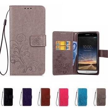 Cartera de cuero caja del teléfono para LG K10 2017 K4 K5 K7 K8 Q6 X K220DS G4 G5 G6 Stylus 2 3 Leon espíritu Q Stylo Flip cubierta