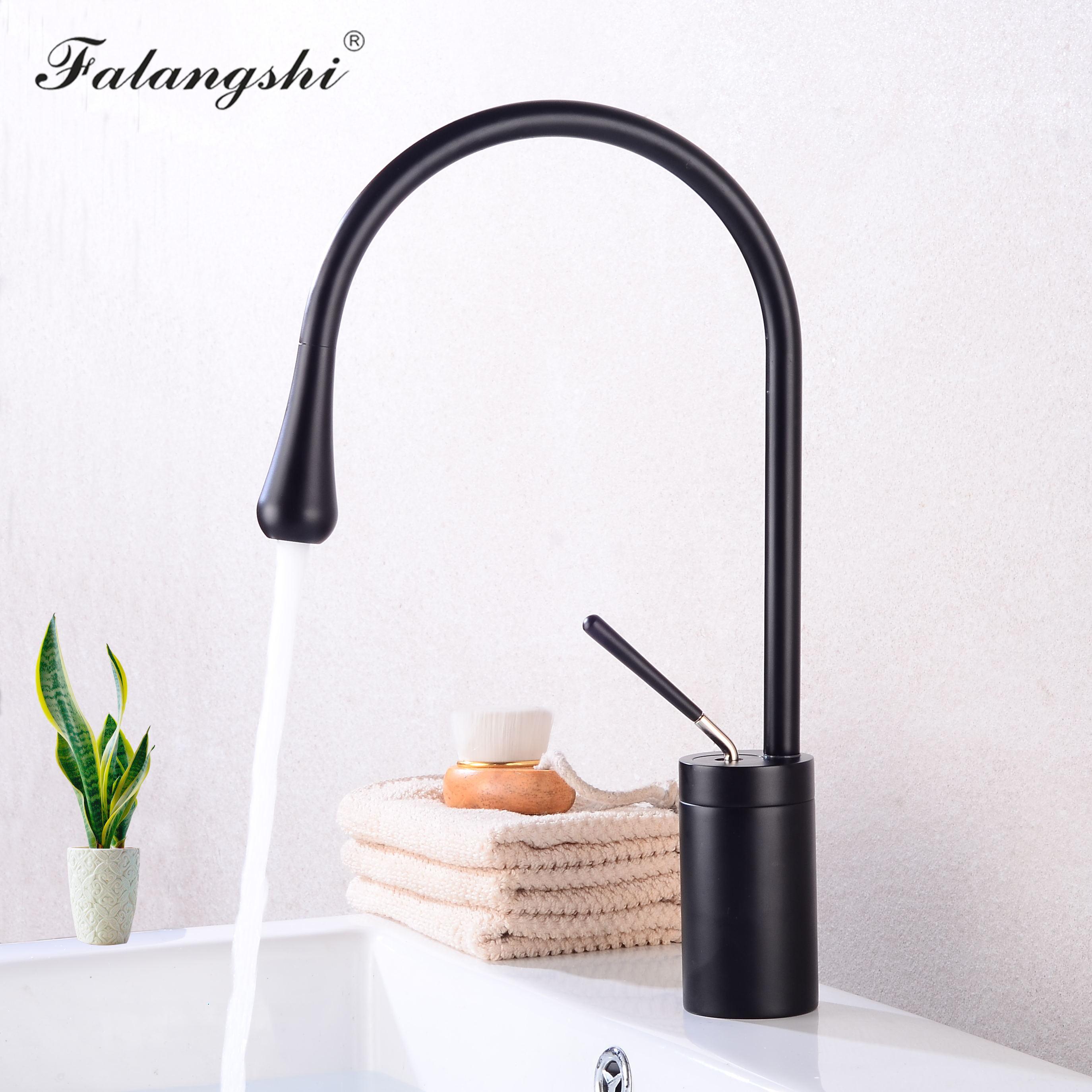 Смесители для раковины, черный смеситель для ванной комнаты, Высококачественный поворотный на 360 градусов смеситель для раковины, смесител...