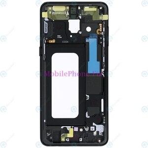 Image 3 - LCD Front Khung Trung Nhà Ở Bezel Chassis Cho Samsung Galaxy A8 2018 A530 Trở Lại Tấm Mặt Với Nút Bấm Bên Các Bộ Phận