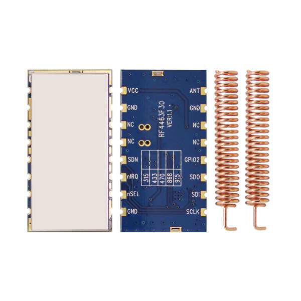 2pcs/lot High Performance Si4463 RF Transmitter And Receiver RF4463F30 High Power 1W 30dBm Wireless Transceiver Module In 433MHz
