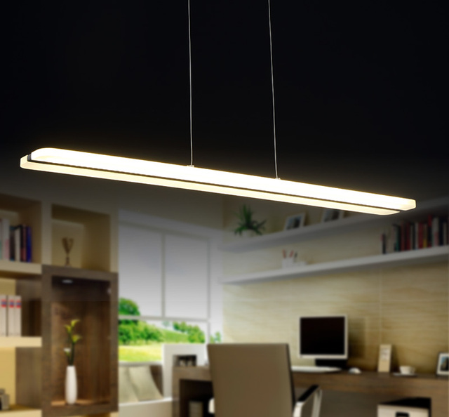 Simple 38w Chandelier Led Lights Acrylic Suspension Hanging Light Modern Re Home Lighting Decoration Lamp L100cm