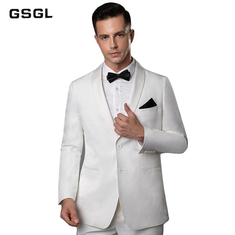 Men's Suit Slim Fit Two Button 2 Piece Suit Blazer Dress Business Jacket & Pants Men Suits For Wedding Party
