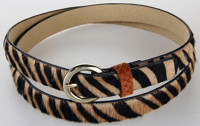 High Quality Zebra Print Genuine Leather Belt For Women Full Grain Leather Belt Ladies All Match Design Fast Shipping 1GW1