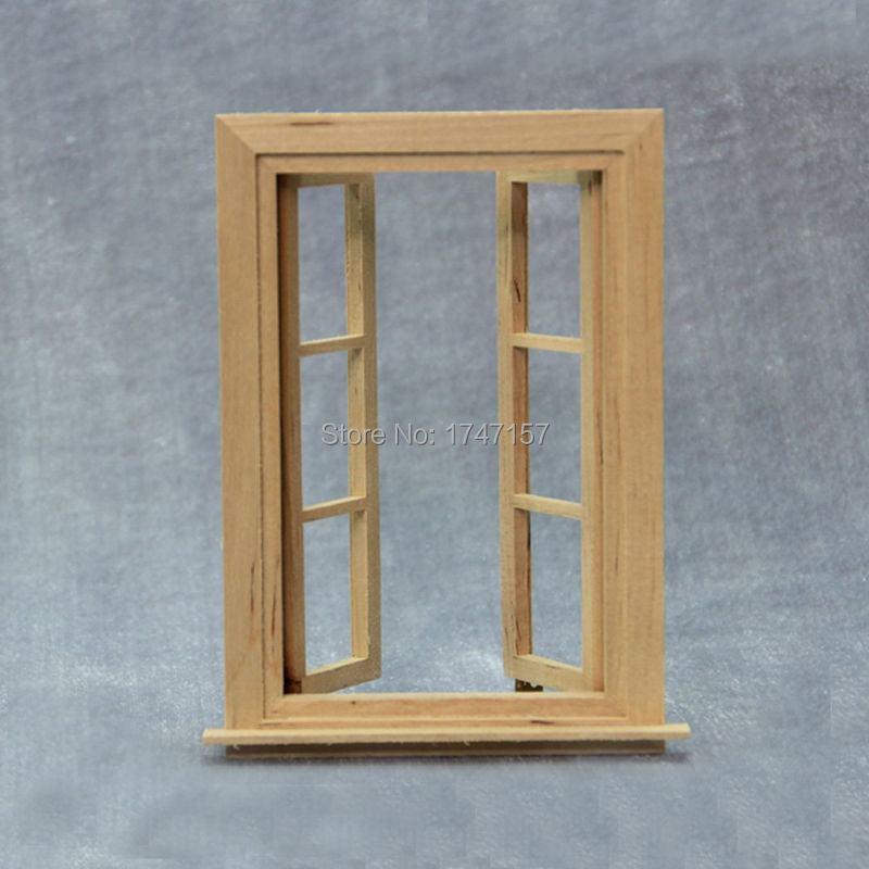 2pcslot diy doll house window 1 12 scale wood miniature dollhouse furniture accessories aliexpresscom buy 112 diy miniature doll house