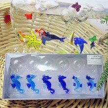 Custom manufacturers, Munuola island style hand blown glass aquarium fish float decoration shrimp Figurine gifts