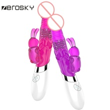 Zersoky Rabbit Vibrator G Spot Dildo Rotating Massage Vibrators Sex Toys For Women Clitoris Stimulator Adult Sex Product