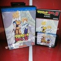 Dragon Ball Z игры Картридж с коробкой и руководством 16 бит md карты для Sega Mega Drive для Genesis
