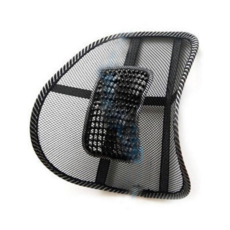 Office Chair Seat Covers Black Swing Ergonomic Hot Sale Relax Car Back Lumbar Waist Massage Mesh Cushion Support Pad Automobiles