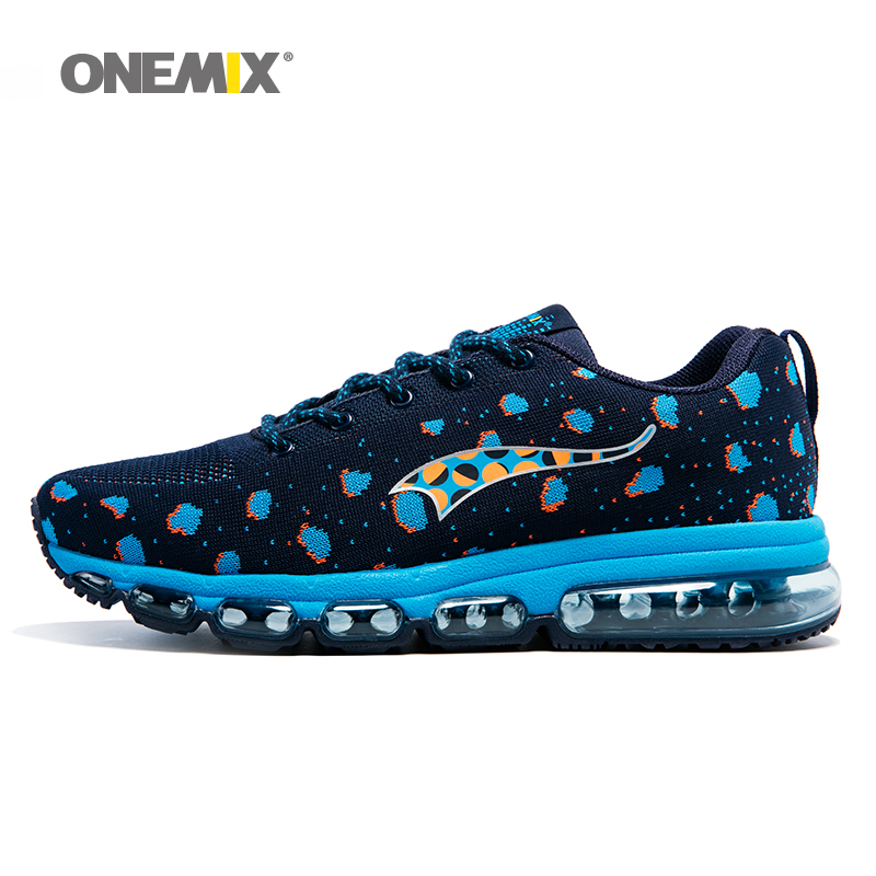 ONEMIX Men Sport Sneakers Knitting Adult Shoes Breathable Outdoor Running Shoes Male Athletic Trainers zapatos de hombre peak sport men outdoor bas basketball shoes medium cut breathable comfortable revolve tech sneakers athletic training boots