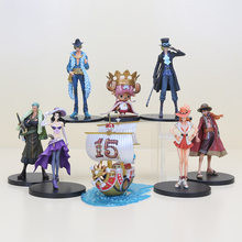 11-18cm ONE PIECE D Luffy Sanji Nami Zoro Chopper PVC Action Figure One Piece SHIP Collectible Model Toy for collection(China)