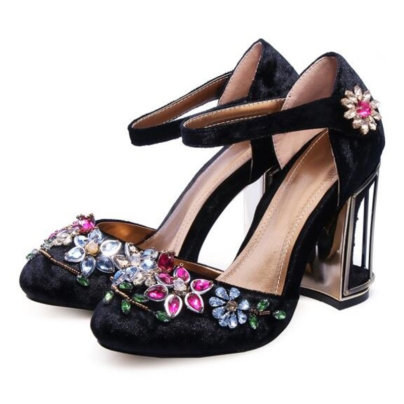 Buy velvet flower cage heels and get free shipping on AliExpress.com f23c5049be8b