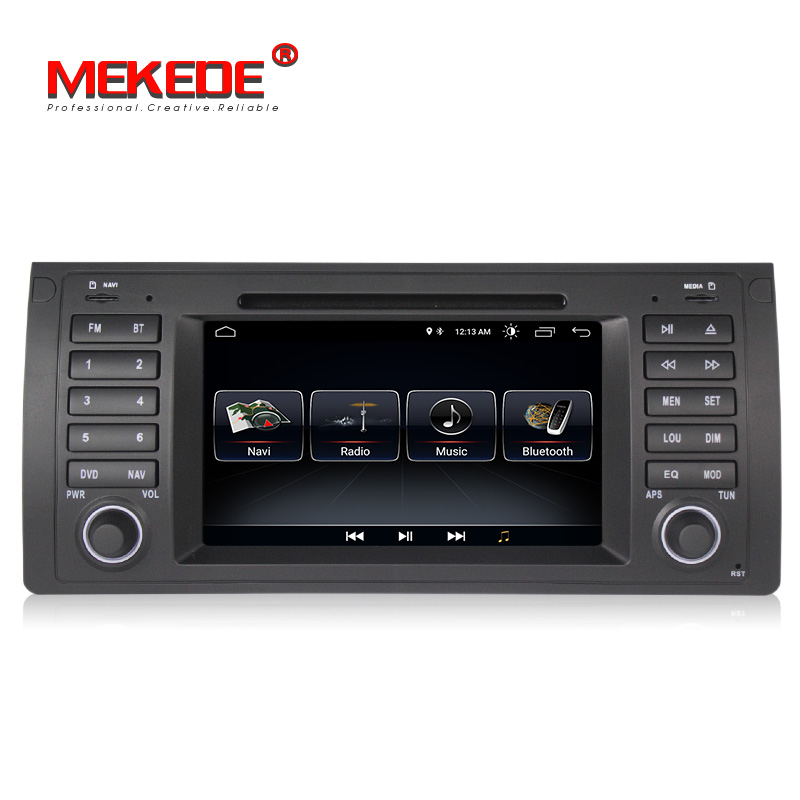 Lecteur DVD de navigation GPS de voiture MEKEDE Quad Core Android 8.1 pour BMW E39 E53 X5 M5 avec wifi BT autoradio livraison gratuite