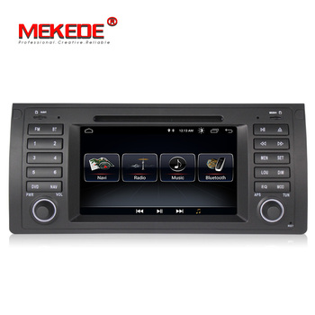 MEKEDE Quad Core Android 8.1 เครื่องเล่นดีวีดีระบบนำทาง GPS สำหรับ BMW E39 E53 X5 M5 พร้อม wifi BT วิทยุจัดส่งฟรี