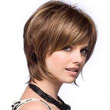 Women Straight Bangs Style Hair Wig