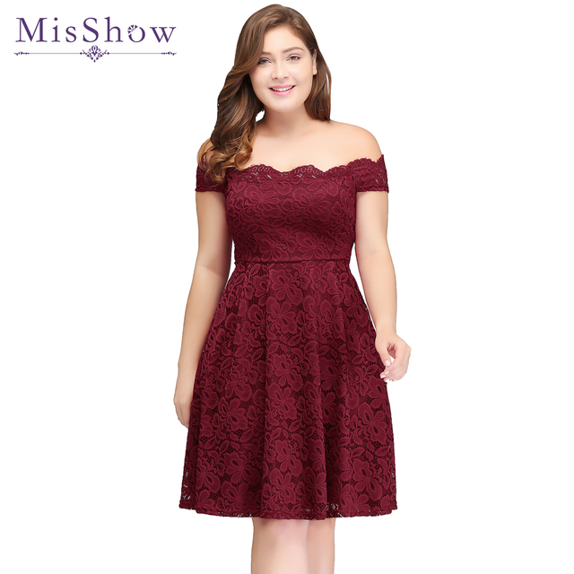 short prom dresses 2017 backless lace plus size burgundy prom gown formal christmas dress cheap party