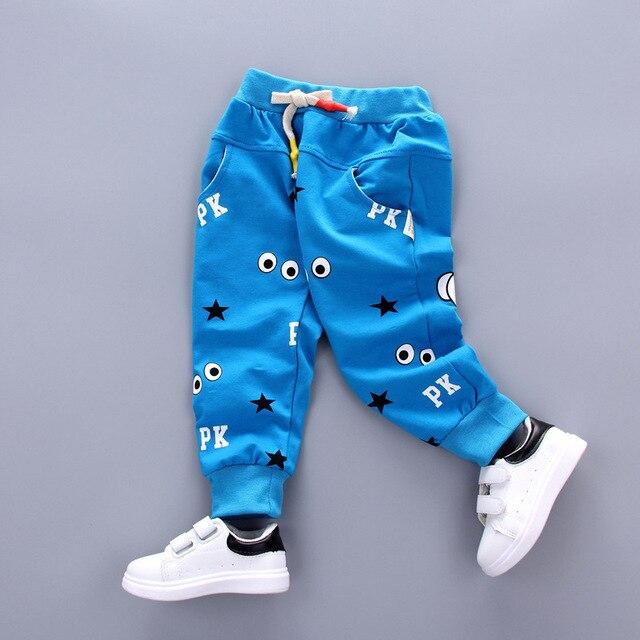 New Arrive Eye Finger Pattern Children Summer Cotton Pants Baby Girls Boys Pants Harem Pants Kids Clothes 2017