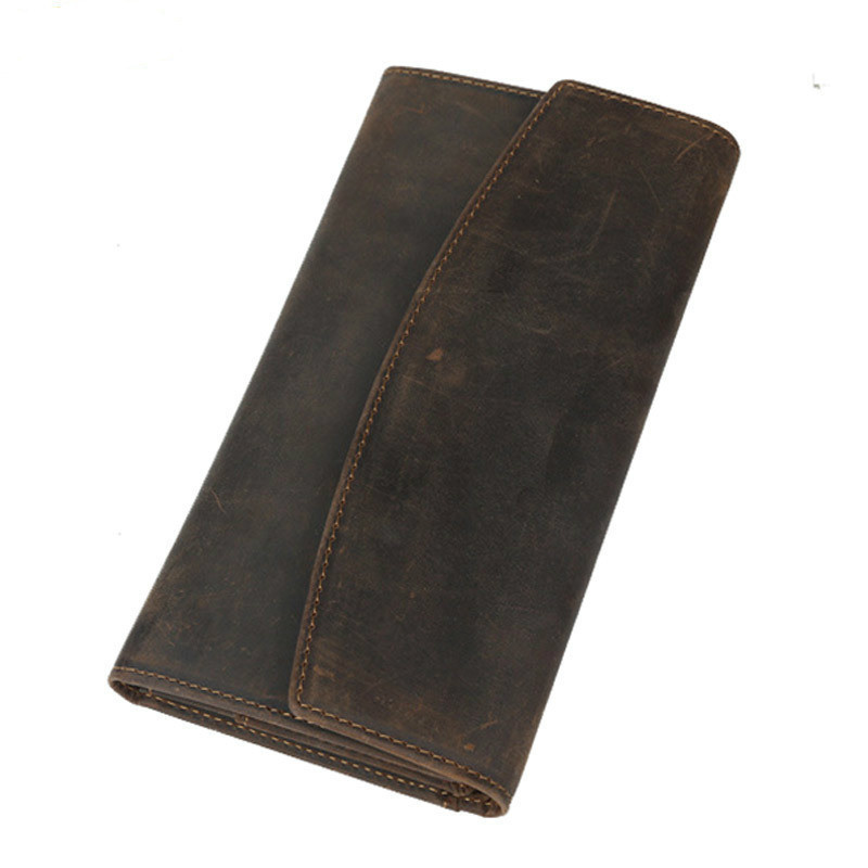 Vintage Male Long Wallet Genuine Leather Hasp Man And Woman Purse Natural Cowhide Slim Men And Women Money Clip PR574028