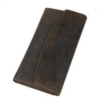 Vintage Male Long Wallet Genuine Leather Hasp Man And Woman Purse Natural Cowhide Slim Men And Women Money Clip PR574028