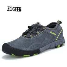 Genuine Leather Men's Casual Shoes Autumn Comfortable Anticollision Walking Mens flats Strong Outdoor Sport Men Moccasins Shoes