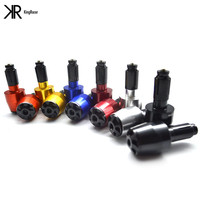 8 Colors Colors For Options 7 8 CNC Universal Motorcycle Handlebar Grip Ends Weights Anti Vibration