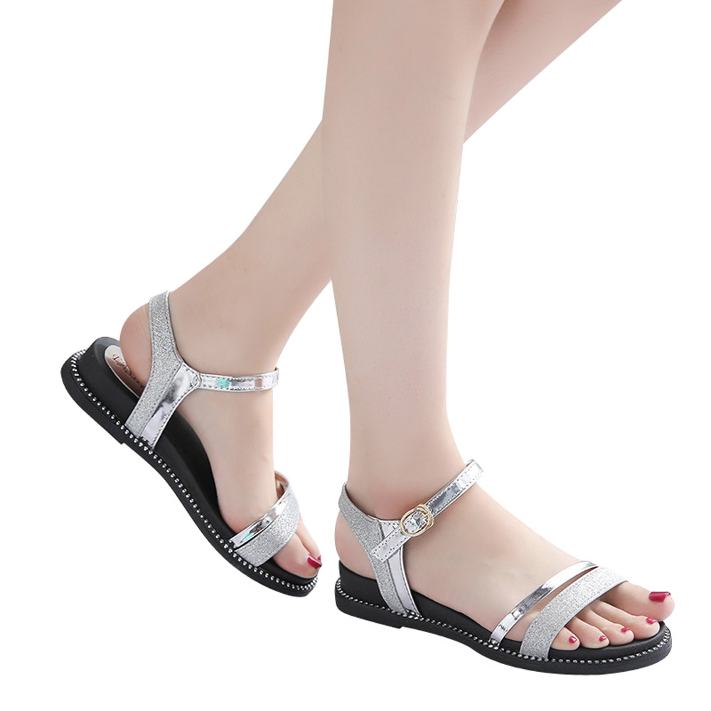 Femenino 2018 Sandalias Moda Plataforma Zapatos Mujer Mujeres Plata 3cuJ1lTFK
