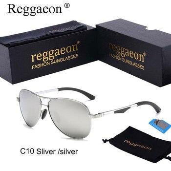 b56ce19861 Reggaeon de aluminio y magnesio, gafas de sol polarizadas hombres 2019  uv400 HD mujeres piloto gafas de sol coche de lujo de alta calidad espejo