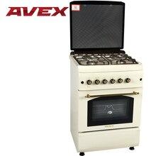 Газовая плита с газовой духовкой AVEX FG6021Y, с чугунными решетками