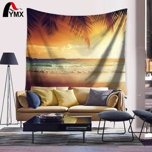 Evening Chill Beach Canvas Print Wall Art Tapestry 150X130/200CM Mandala Tapestry Wall Hanging Tapestry Fringes Beach Throw Mat