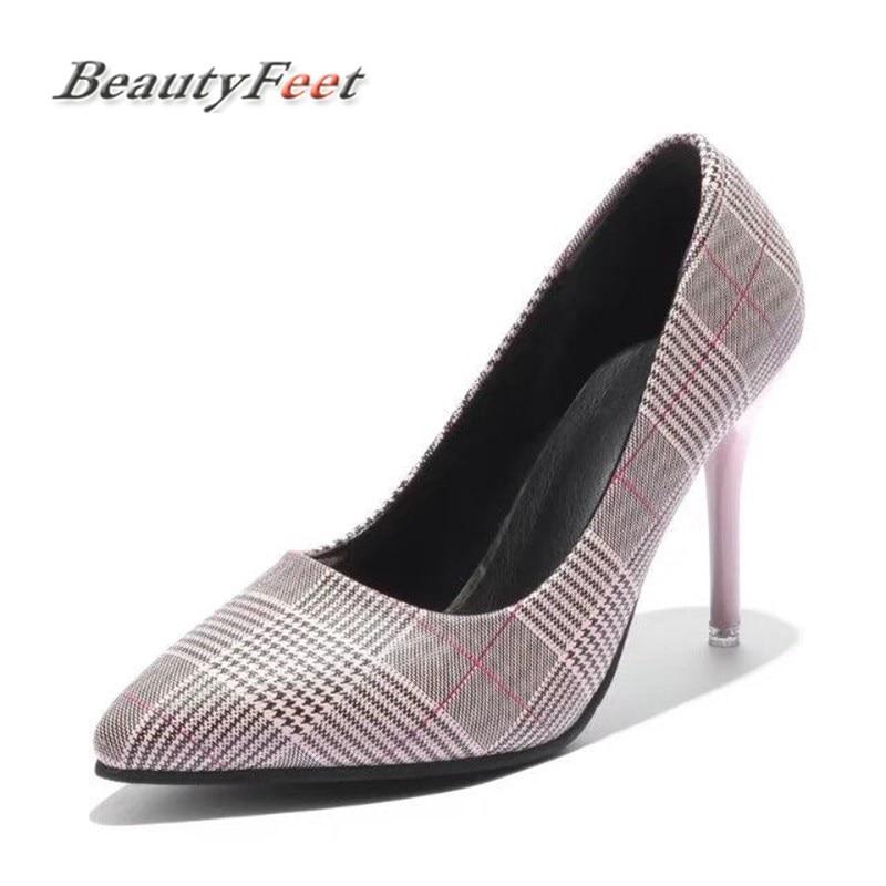 54d6fc09d71 BeautyFeet mujeres bombas fiesta boda Zapatos Super tacón alto punta  puntiaguda Zapatos Mujer chussure Mujer marca Talon