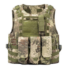 Duty Military Camouflage Molle Gilet Tactical Vests Men Plate Carrier Pockets Airsoft Hunting Fishing Paintball Commuter Uniform(China)
