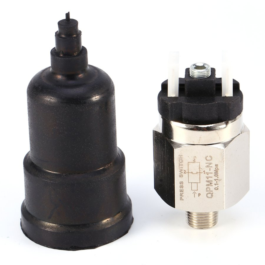 1pcs 1/8 Swtich Adjustable QPM11-NC / QPM11-NO Pressure Switch Wire External Thread Nozzle