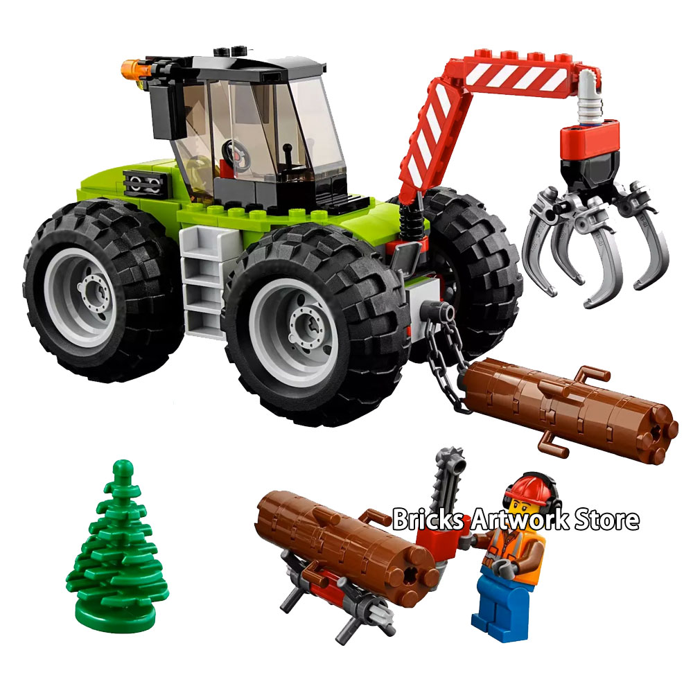 194pcs City Series Forest Tractor Engineering lumberman Figures Building Blocks Bricks Toys For Kids Gifts Fit legoness 60181194pcs City Series Forest Tractor Engineering lumberman Figures Building Blocks Bricks Toys For Kids Gifts Fit legoness 60181