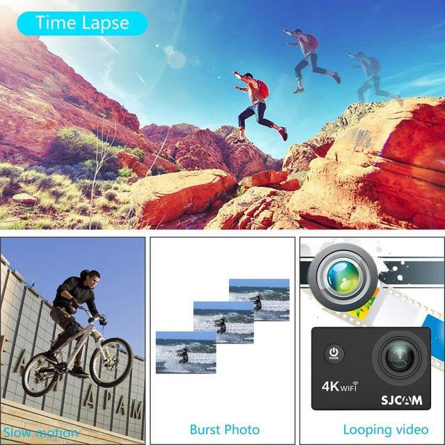 SJCAM SJ4000 ARIA Macchina Fotografica di Azione di Deportiva 4K @ 30FPS WiFi Schermo LCD da 2.0 pollici Diving 30m Impermeabile SJ 4000 Cam Sport Estremi DV 4