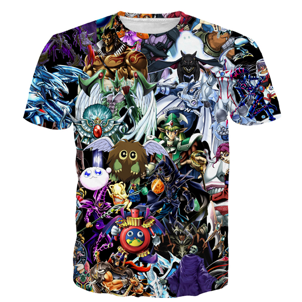 YuGiOh Monster Tee Shirt Men Women Hipster 3D t shirt Funny Duel Monsters Elf Prints tshirts Cute Anime t shirts Harajuku Tees