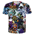 YuGiOh Monstruo Tee Shirt Hombres Mujeres Hipster 3D camiseta Divertida Duel Monsters Duende Impresiones camisetas Cute Anime camisetas Harajuku Tees