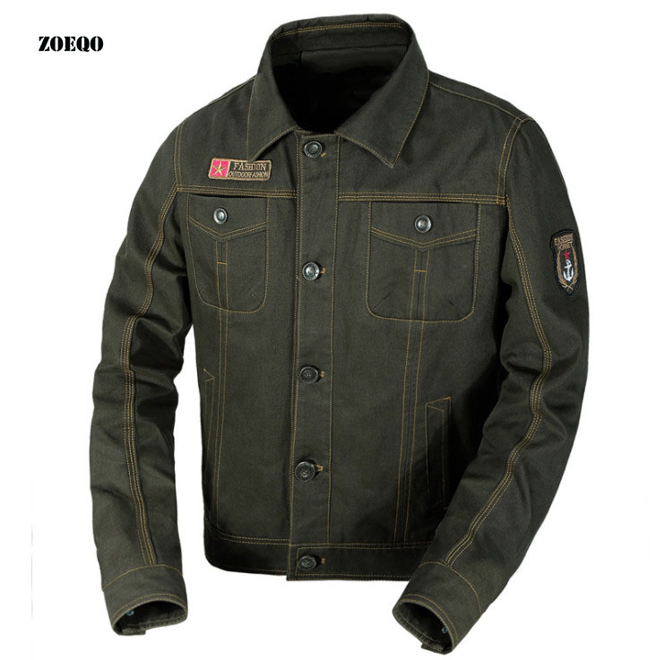 Brand New Spring Autumn Men Casual Jacket Coat  Men Military Jacket Military Uniform Men's Casual Jacket Clothing 6XL