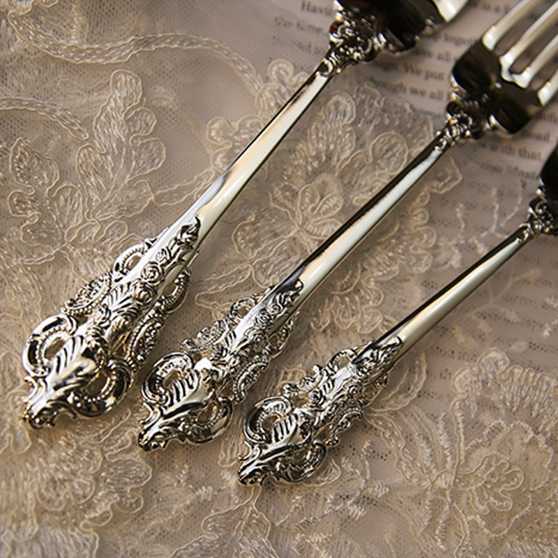 10pcs set Retro Spoons Knifes Forks (2)