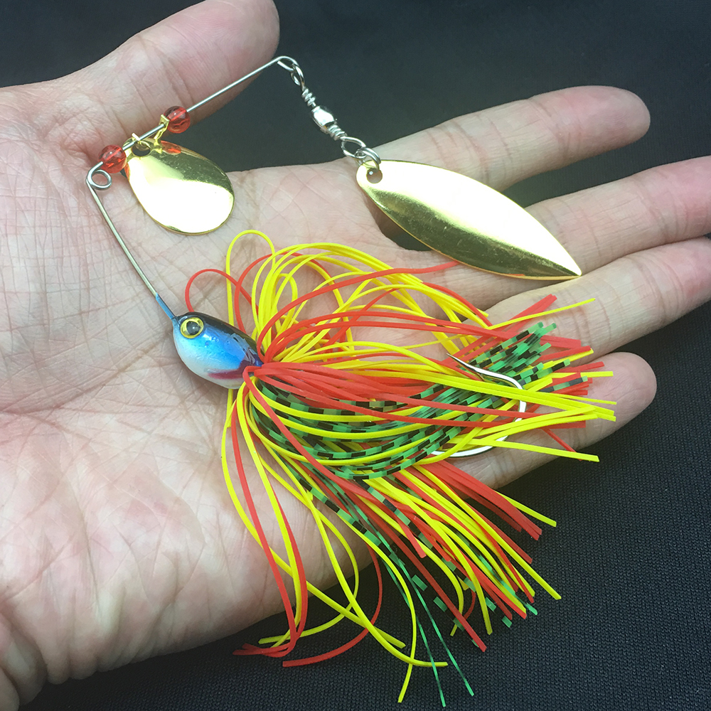 17g 19g Spinner Fishing Lure Bait Spoon Swisher Buzzbait Bass Minnow Crank Popper Vib Spinnerbait Lures Tackle Barb Hooks Pesca