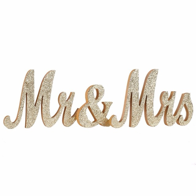 gold glitter mr and mrs wedding letters wooden mr mrs signs wedding bridal shower party
