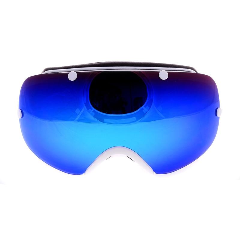 Prix pour Véritable Être Belle de luxe double lentille ski lunettes anti-brouillard grand sphérique professionnel moto snowboard lunettes oculos gafas
