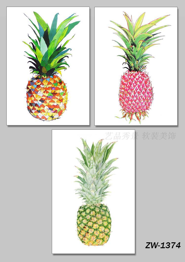Moderno E Minimalista N Rdico Cor Abacaxi Decorativo Abstrato  ~ Imagens Para Quadros De Quarto Para Imprimir Abacaxi